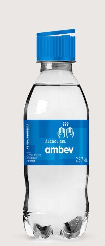 Álcool gel produzido em uma das fábricas da cervejaria virá da produção da cerveja Brahma 0.0