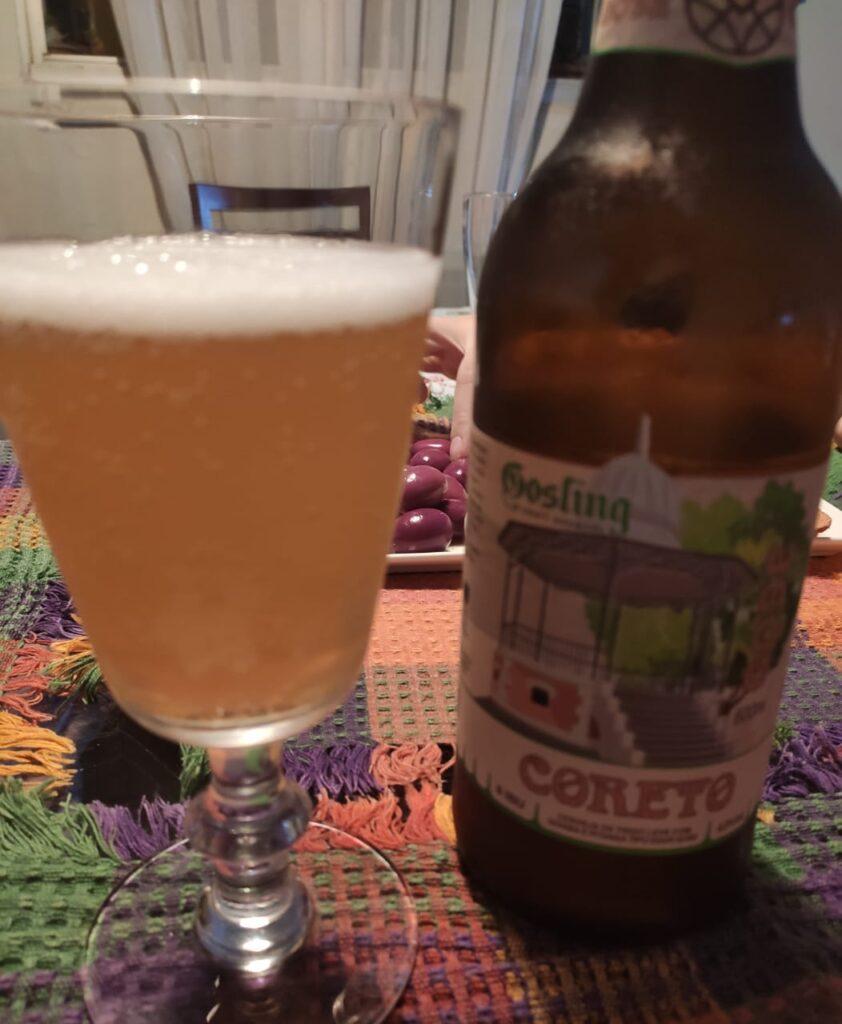 Coreto é a Gose com goiaba e pitanga, um dos primeiros rótulos produzidos pela cervejaria