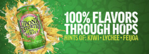 Luponic Distortion traz aromas de kiwi e Lichia, todos vindos dos lúpulos