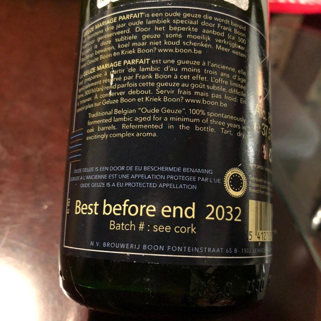 Cervejas podem ter data de validade de décadas, como a Geuze Mariage Parfait