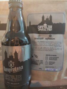 Cafetelier são o café maltado e a cerveja feita com café da Ouropretana