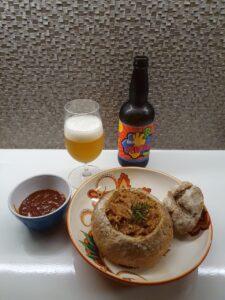 Panhoca De Birra já finalizada pelo próprio cliente em casa.