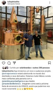 Mestre-cervejeiro da Verace é diplomado mestre-destilador