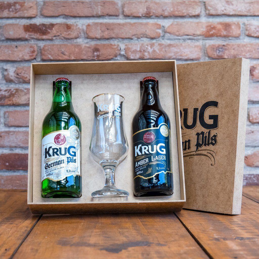 O Kit Dia dos Pais Krug já vai pronto, com os lançamentos da marca e um copo