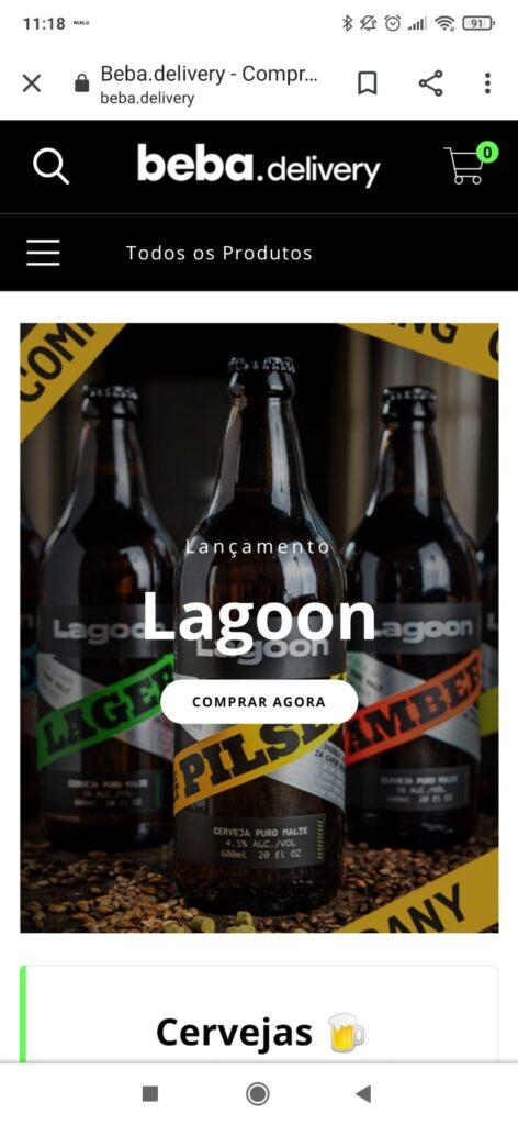 O site da Capim Branco comercializa marcas próprias e ciganas produzidas na fábrica da cervejaria